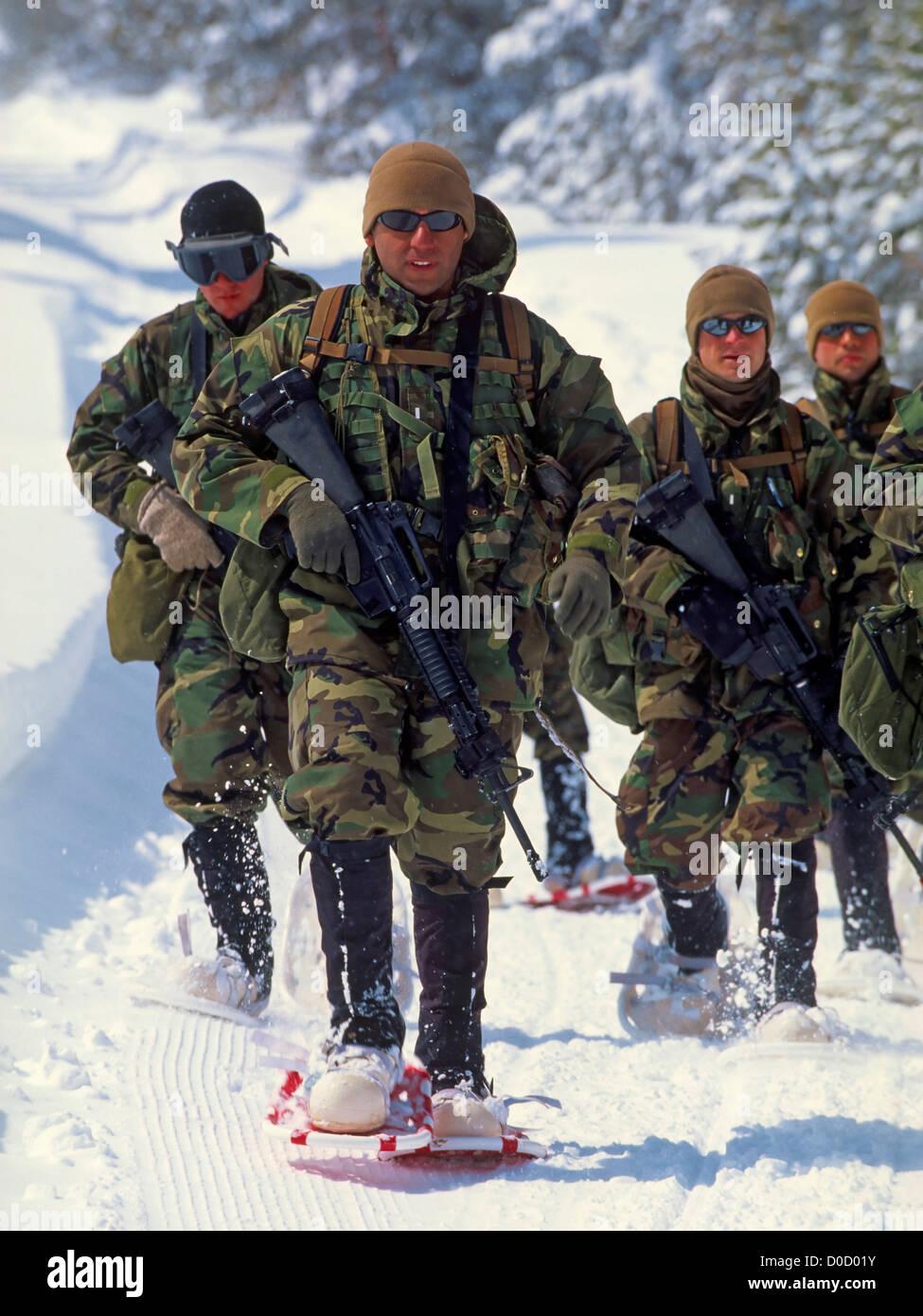 Marine Corps Mountain Warfare Training - Stock Image