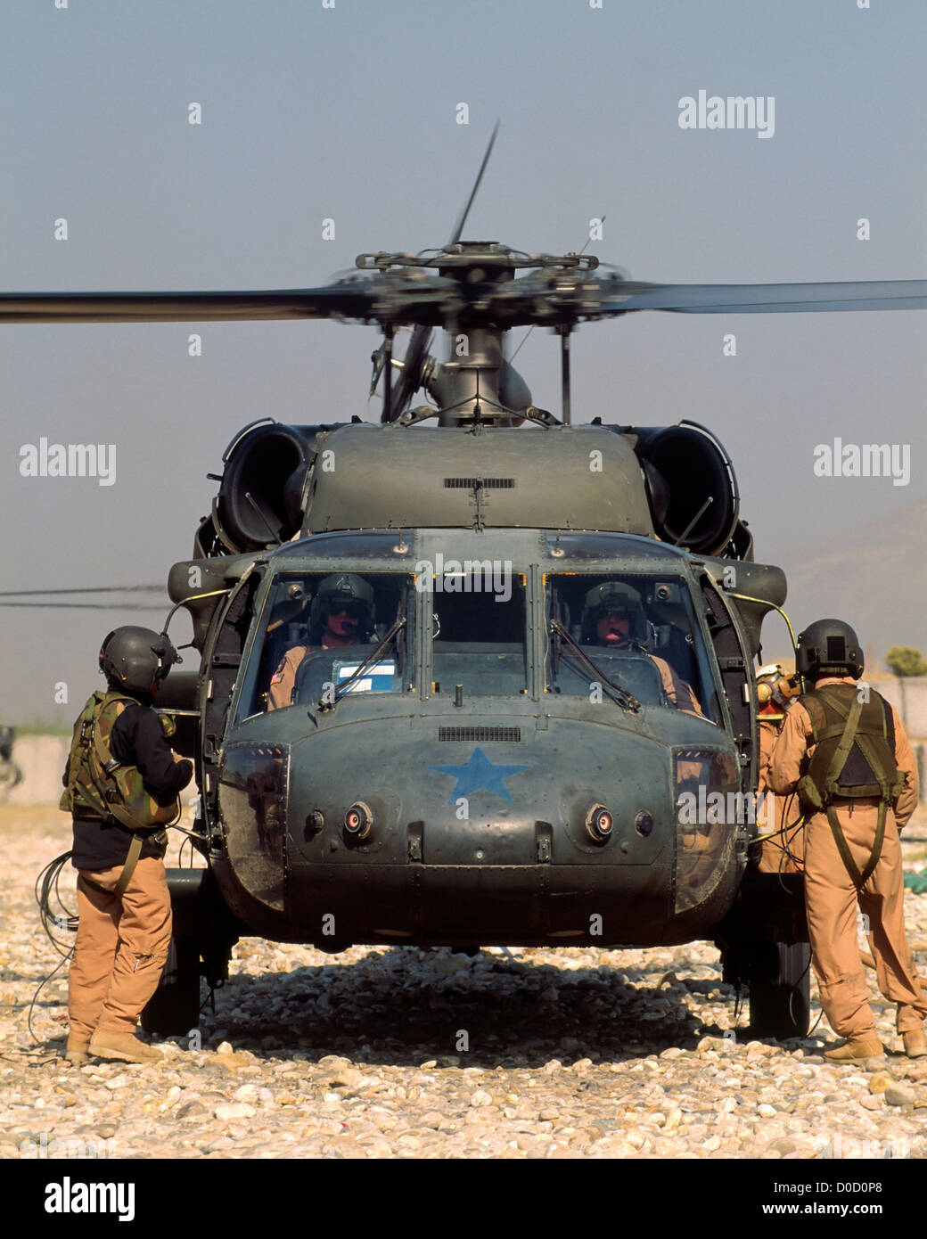 UH-60 Blackhawk at Jalalabad, Afghanistan - Stock Image