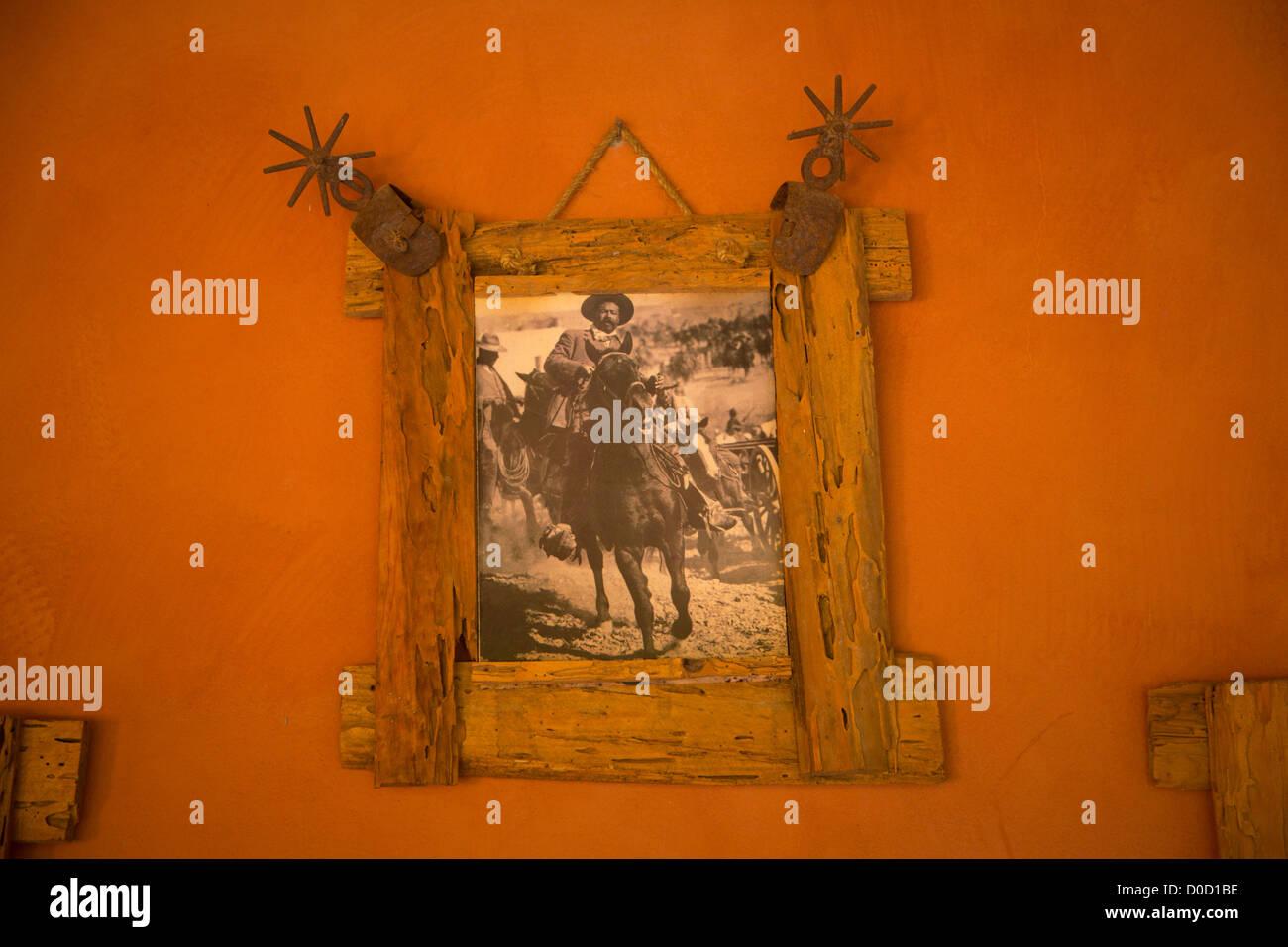 Pancho Villa photograph, El Tuito, Costalegre, Jalisco, Mexico - Stock Image