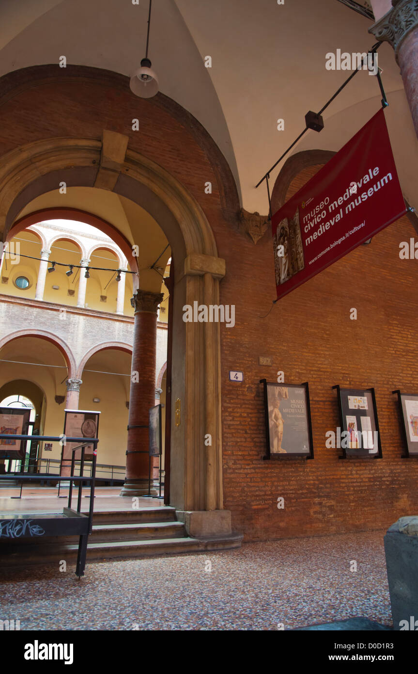 Museo Civico Medievale the Medieval museum central Bologna city Emilia-Romagna region northern Italy Europe Stock Photo