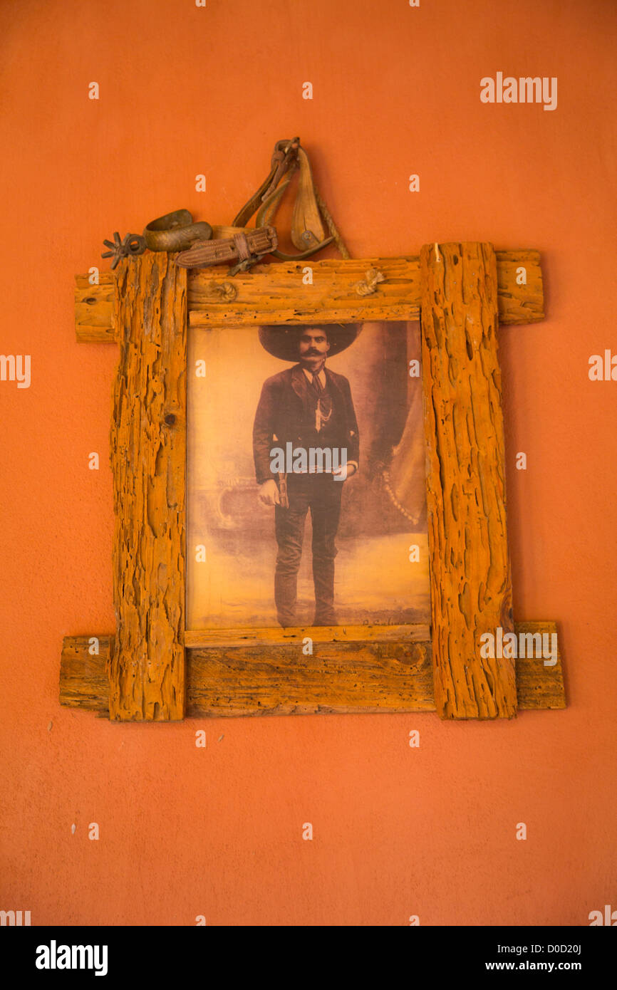 Emiliano Zapata photograph, El Tuito, Costalegre, Jalisco, Mexico - Stock Image