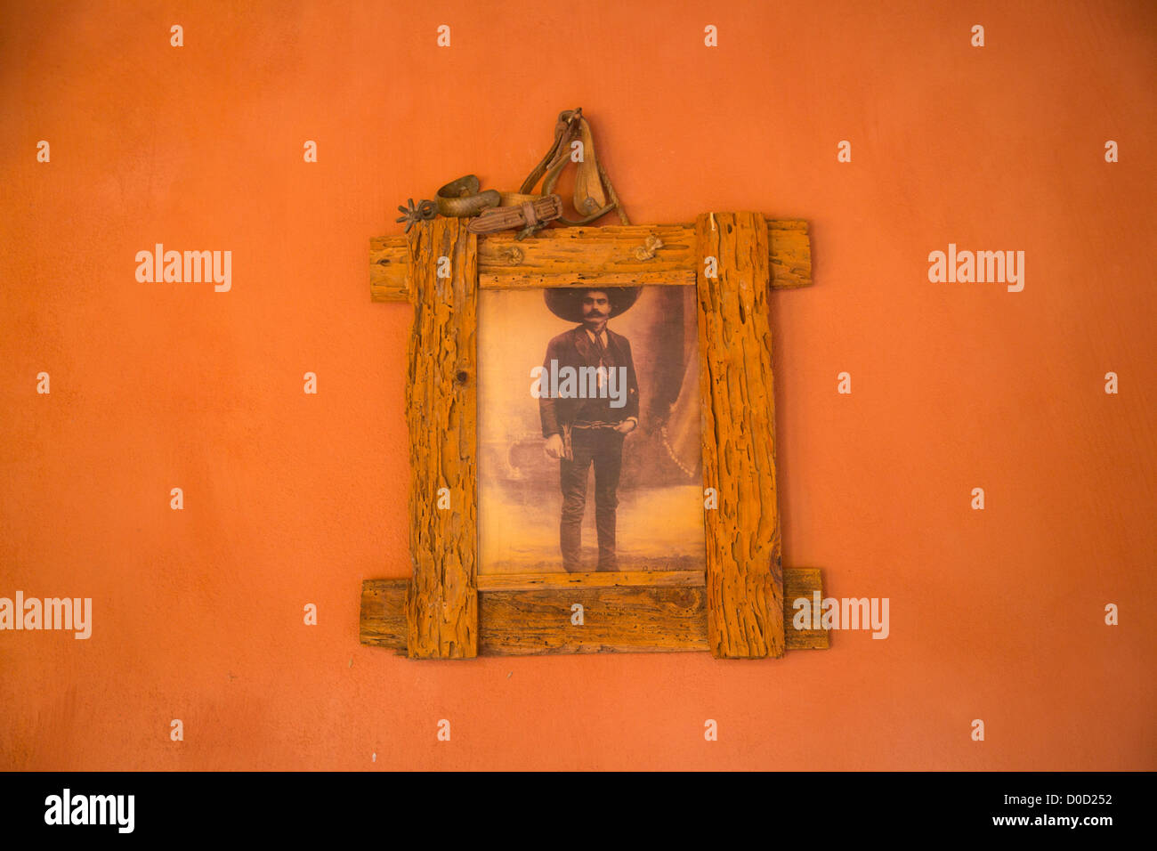 Emiliano Zapata photograph, Mexico, El Tuito, Costalegre, Jalisco, Mexico - Stock Image