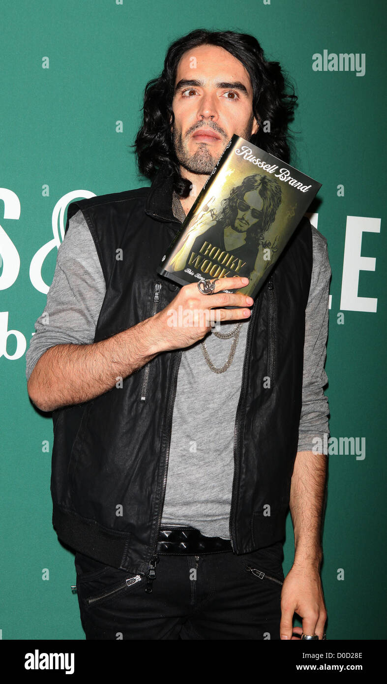 Russell Brand at book signing for 'Booky Wook 2: This Time It's Personal' at Barnes & Noble New - Stock Image