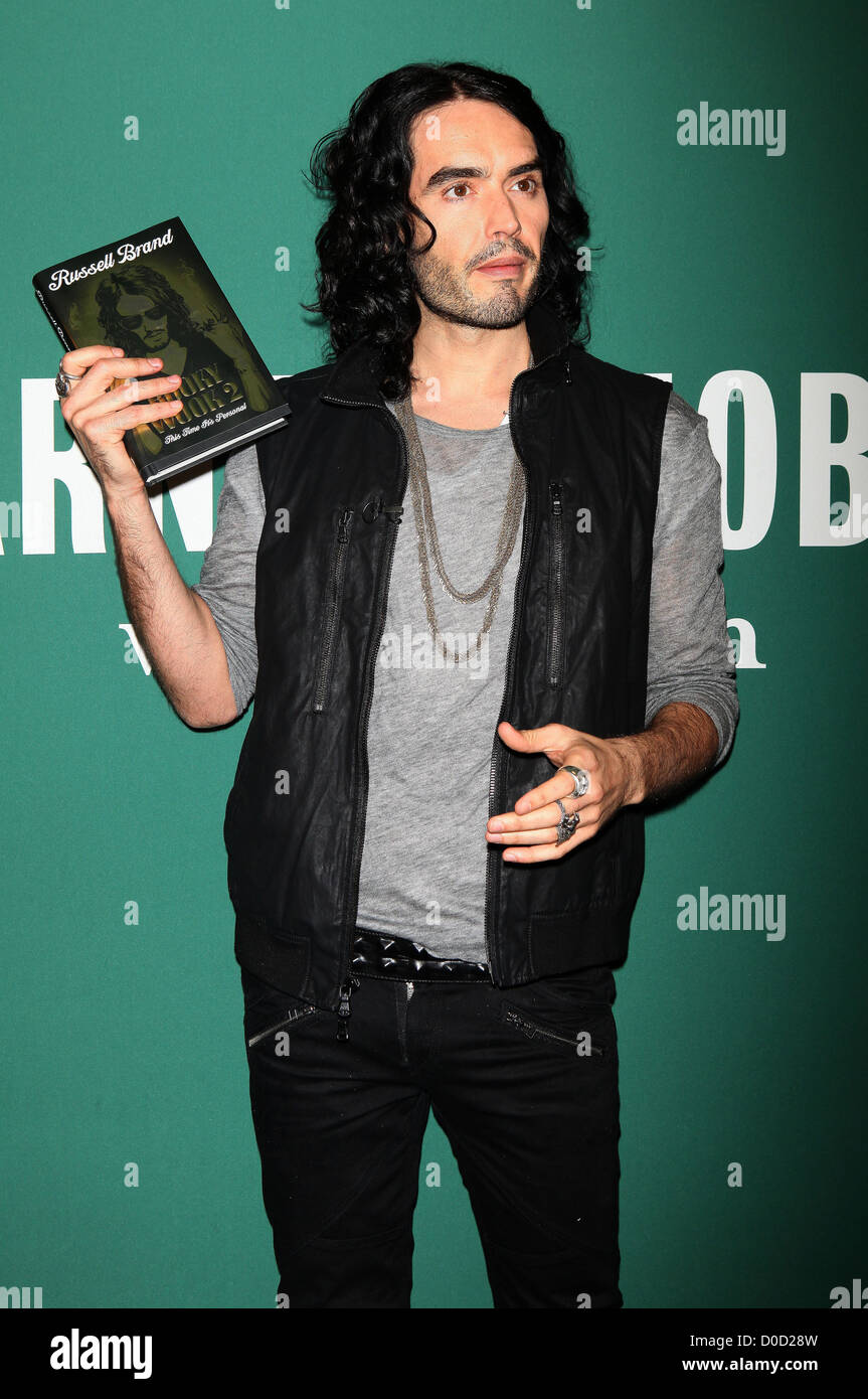 Russell Brand at book signing for 'Booky Wook 2: This Time It's Personal' at Barnes & ble New York - Stock Image