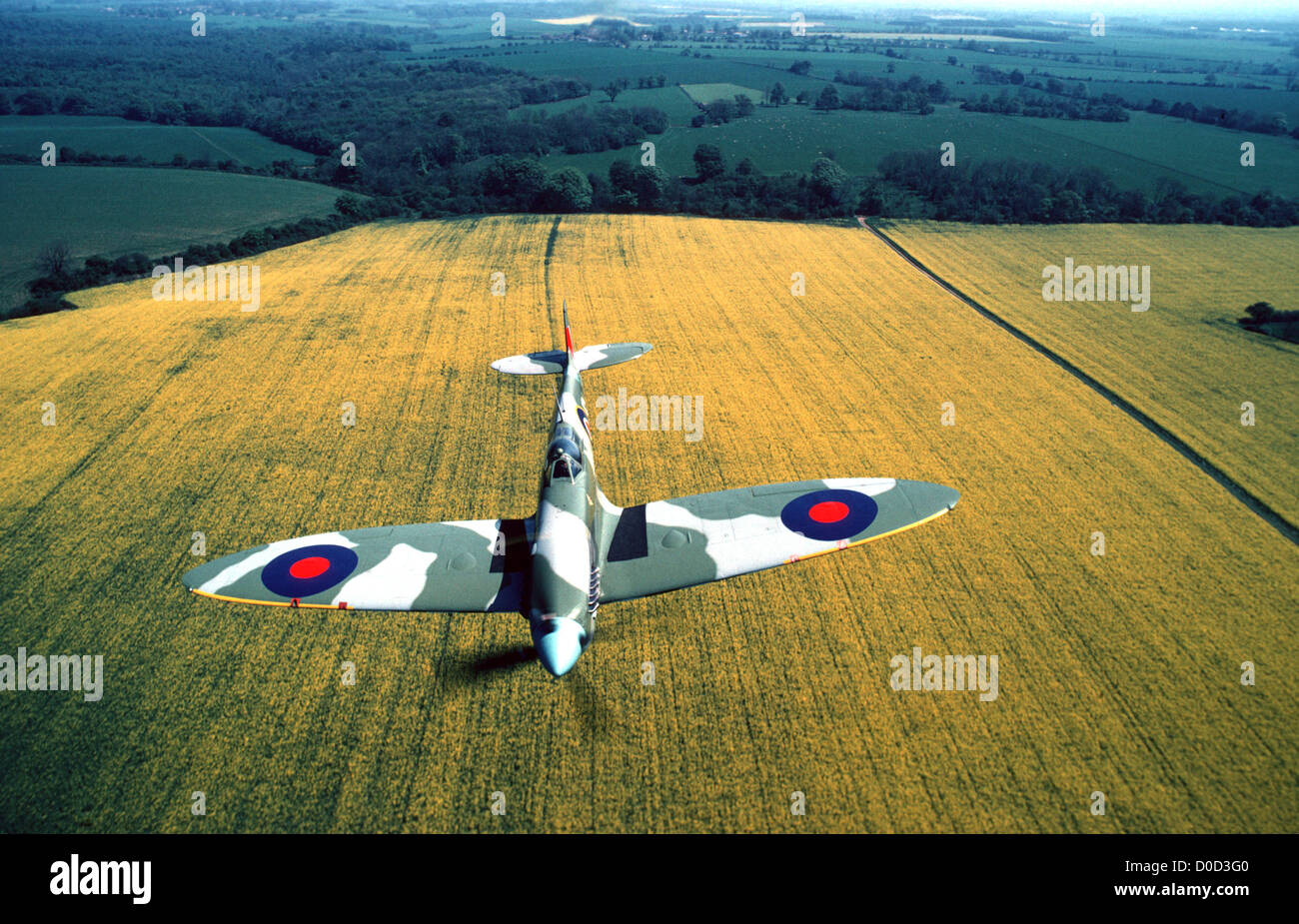 Spitfire fighter aircraft - Stock Image