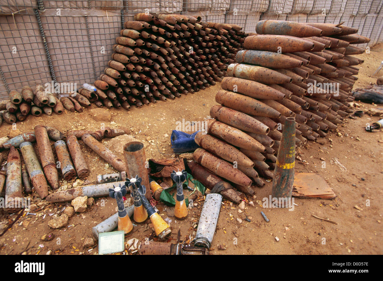 Captured Artillery Rounds, Mortar Rounds, and Equipment