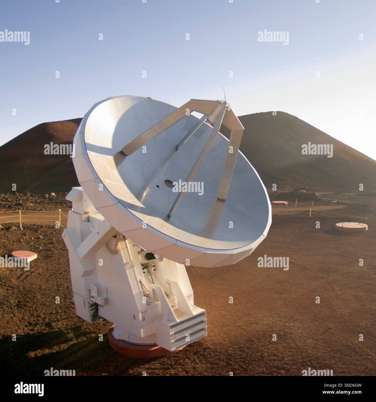 A Radio Receiver of the Submillimeter Array Atop Hawaii's Mauna Kea - Stock Image