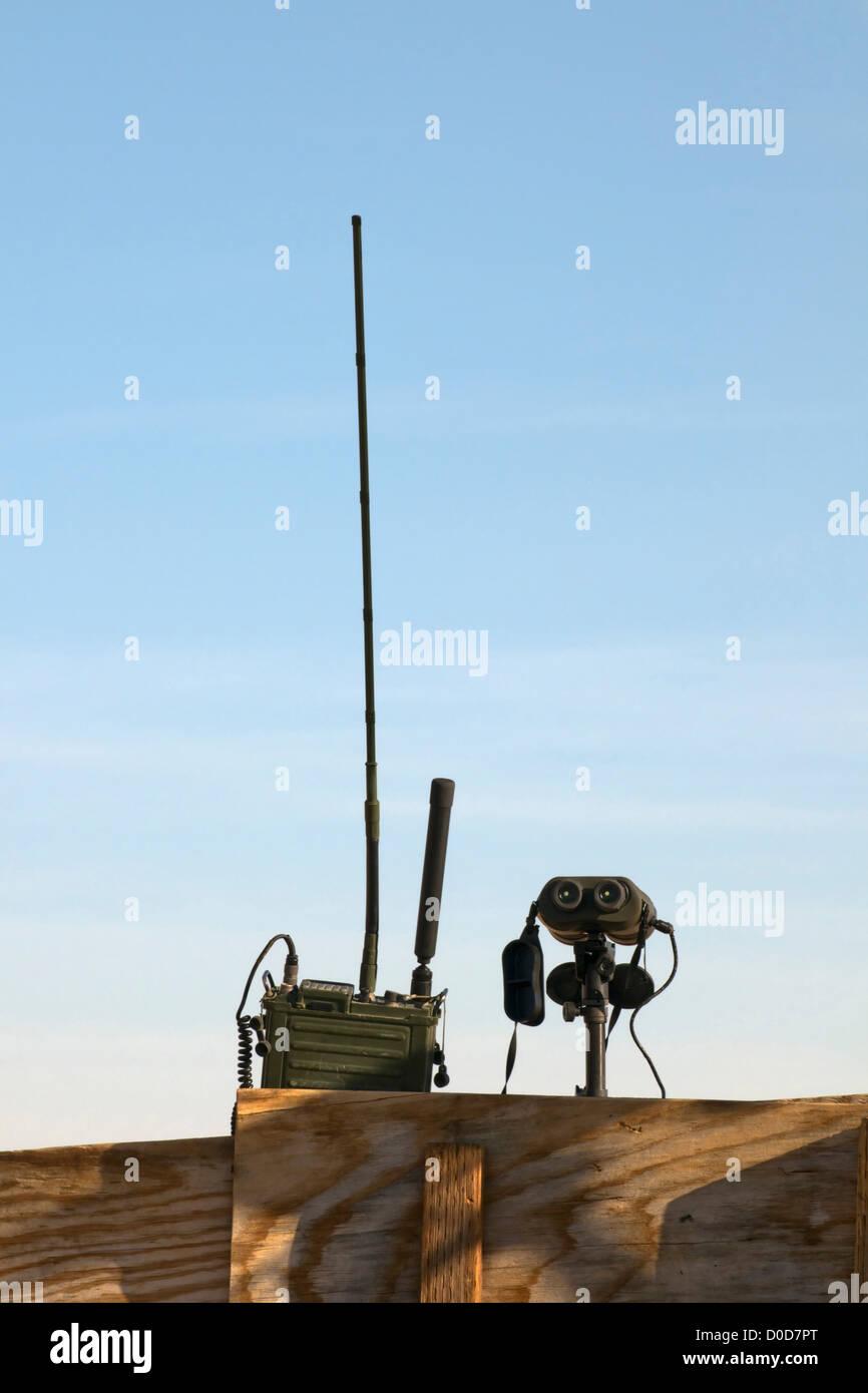 Spotting Scope and Radio - Stock Image