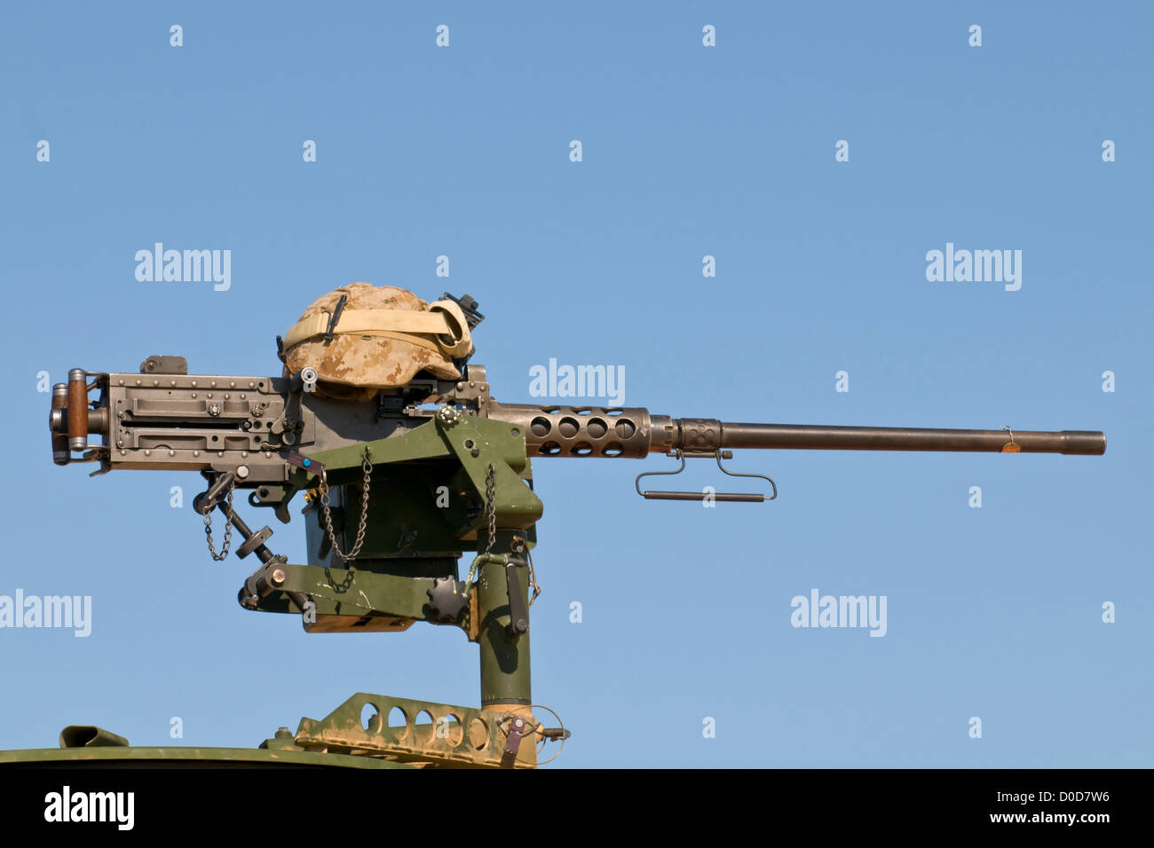 Marine Corps M2 .50 Caliber Machine Gun - Stock Image