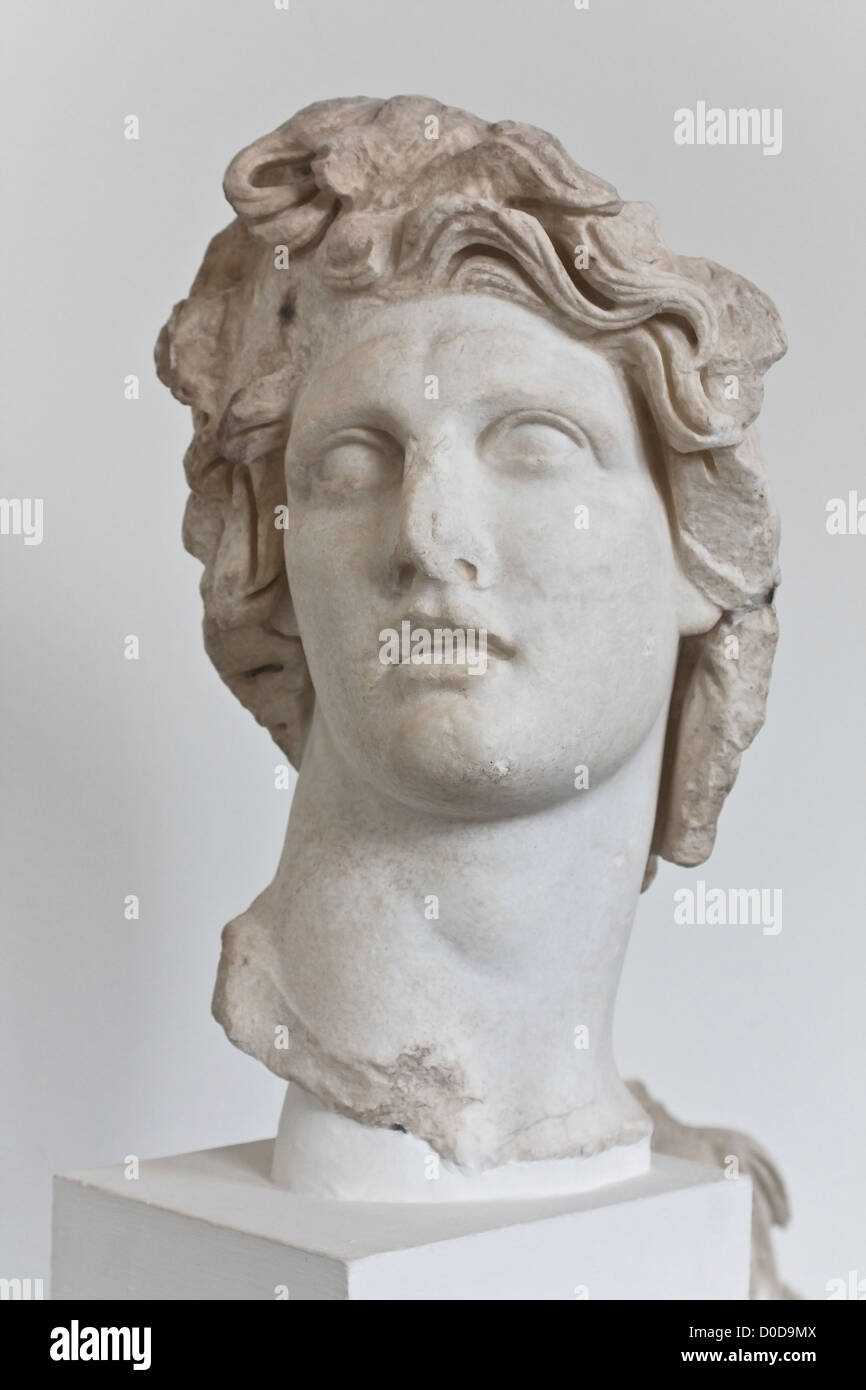 Statue of Apollo Greek God of Sun - Stock Image