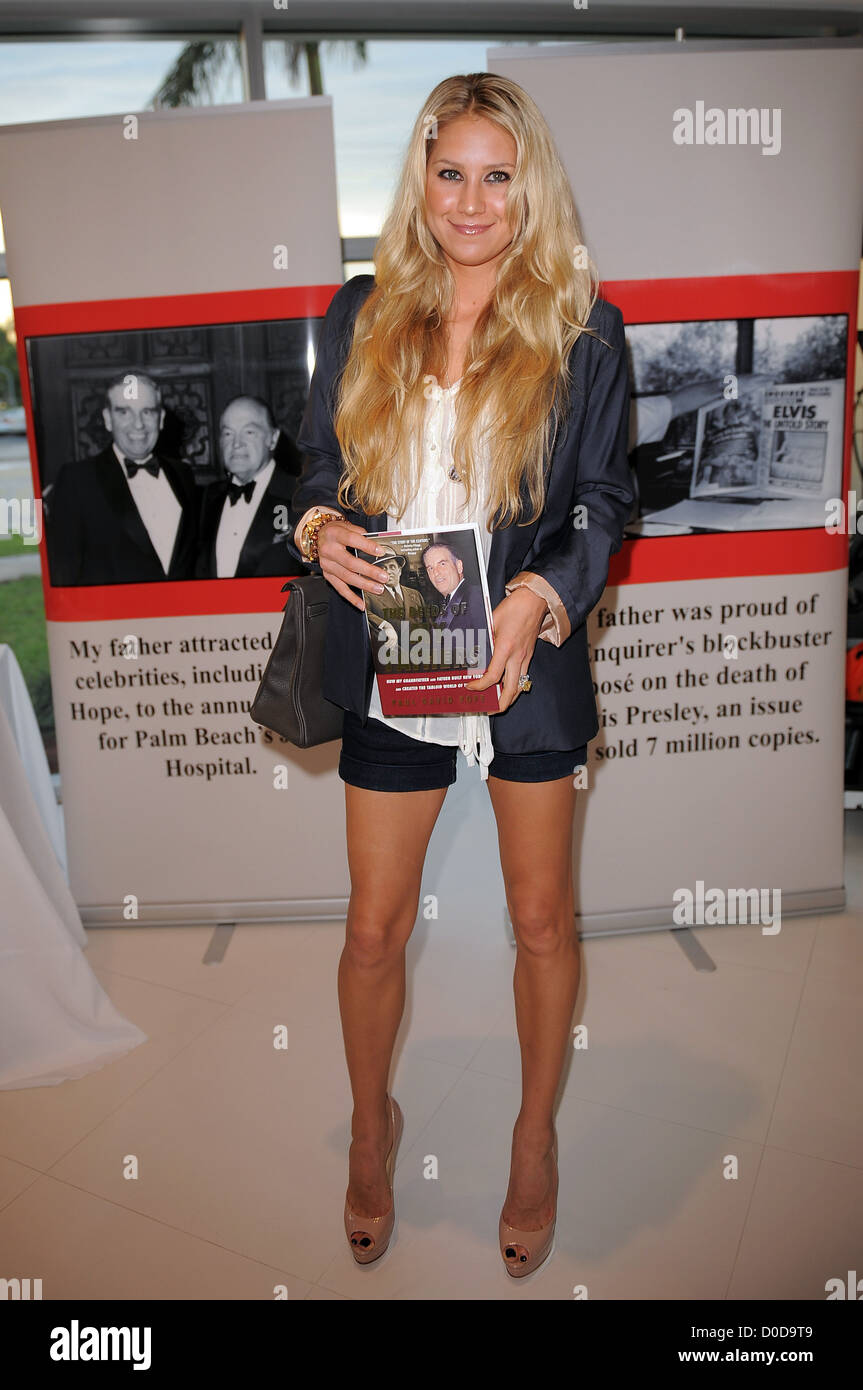 anna kournikova release party for paul david pope's book 'the deeds