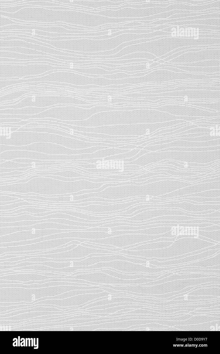 white textile background, decorative pattern canvas texture - Stock Image