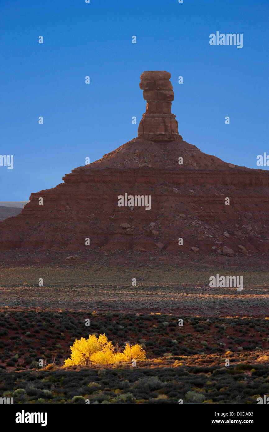 Fall in the Valley of The Gods Stock Photo