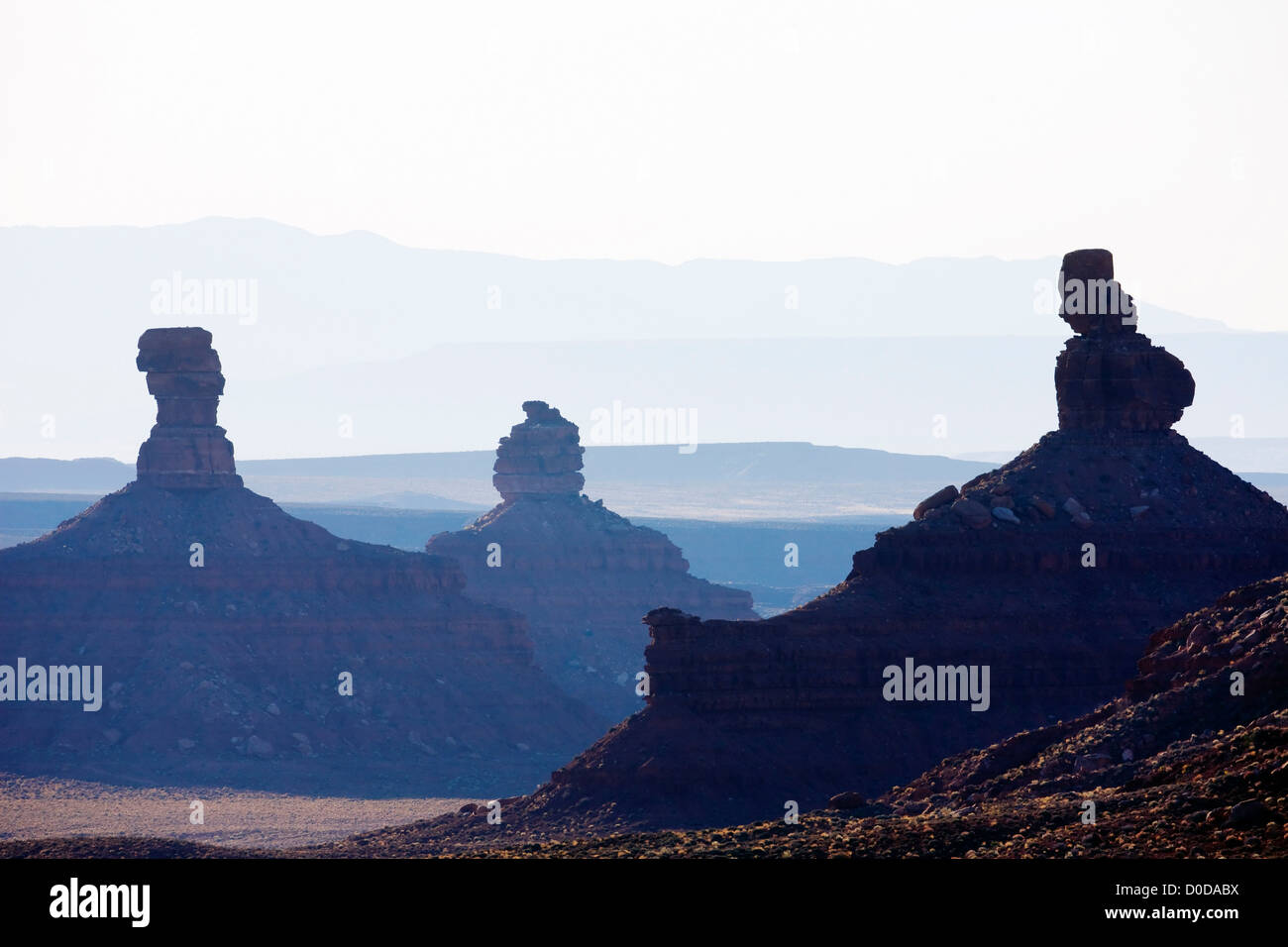 Valley of The Gods, Southern Utah - Stock Image