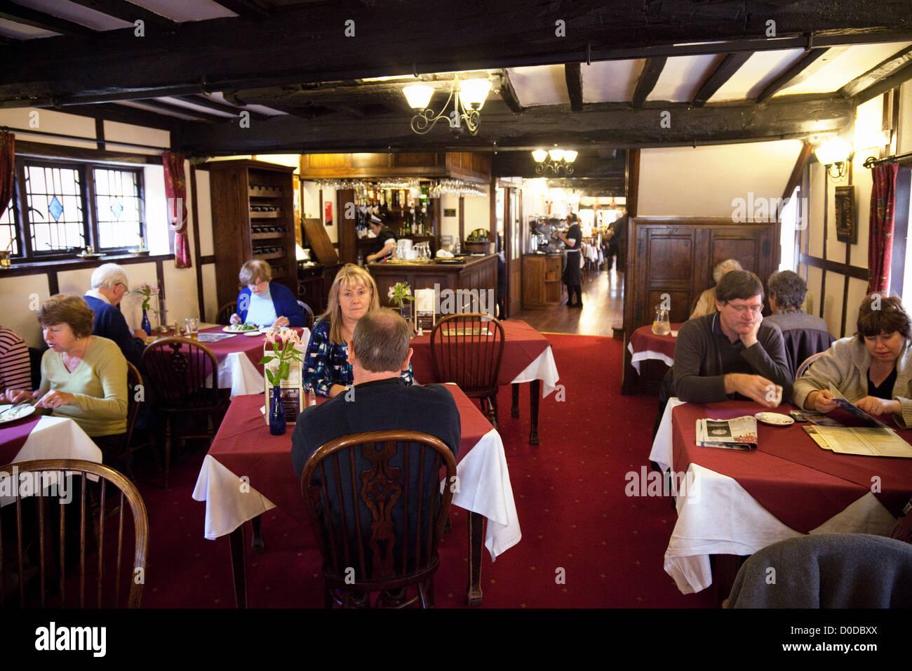 De Greys tea room interior, Ludlow, Shropshire UK - Stock Image