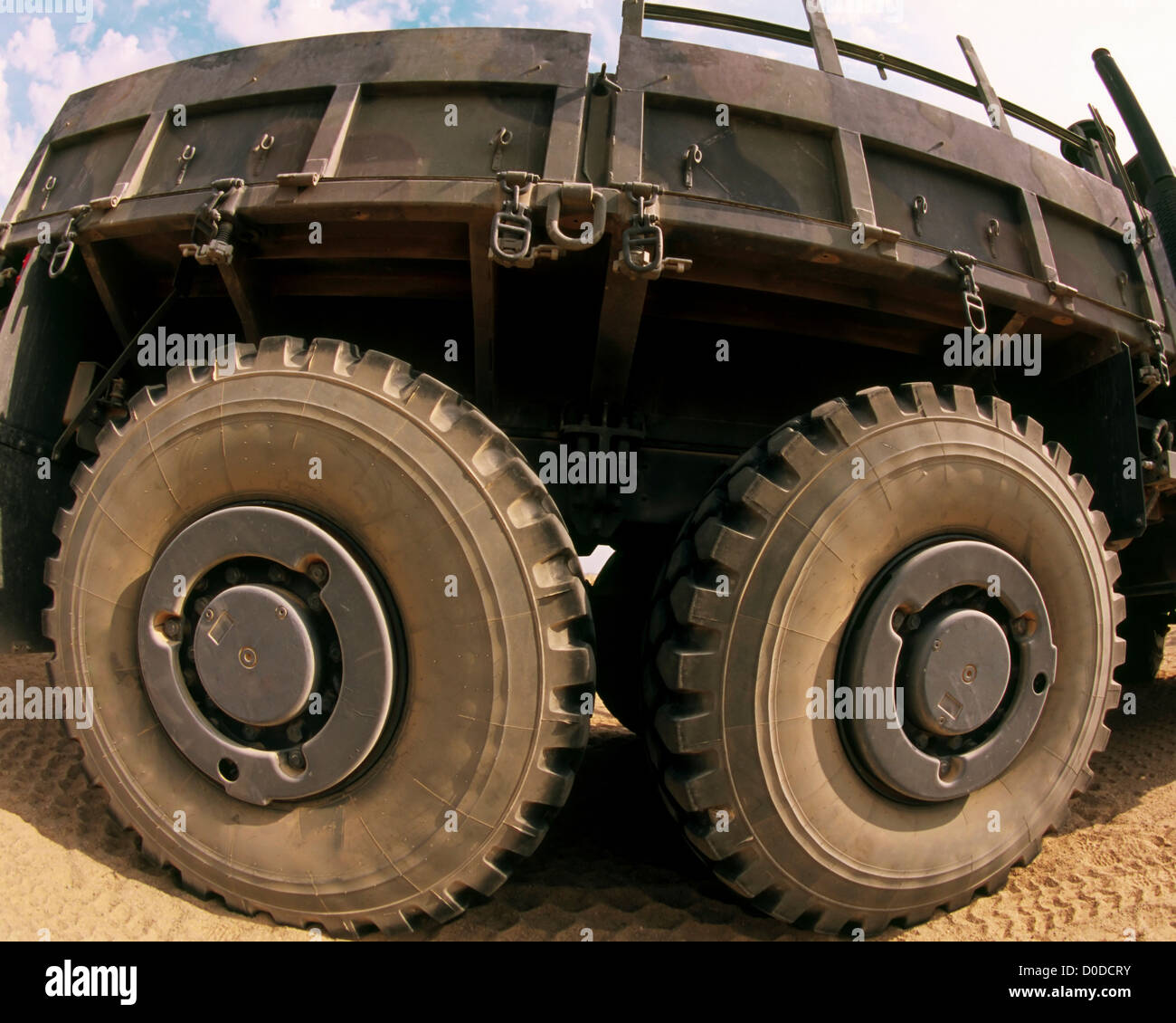 Fisheye View of a US Marine Corps Troop Carrier - Stock Image