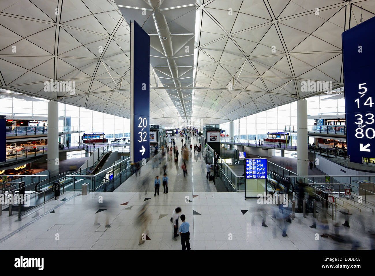Hong Kong International Airport Terminal - Stock Image