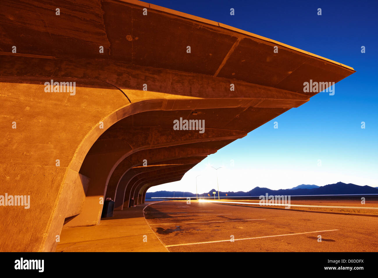 Rest Stop On Interstate 80 - Stock Image