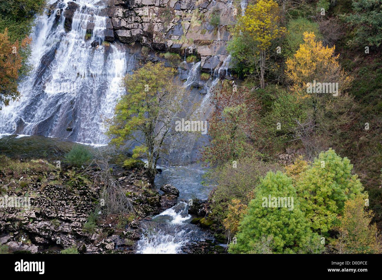 River Ason valley in the Parkland  'Collados del Ason'. Cantabria,Spain. - Stock Image