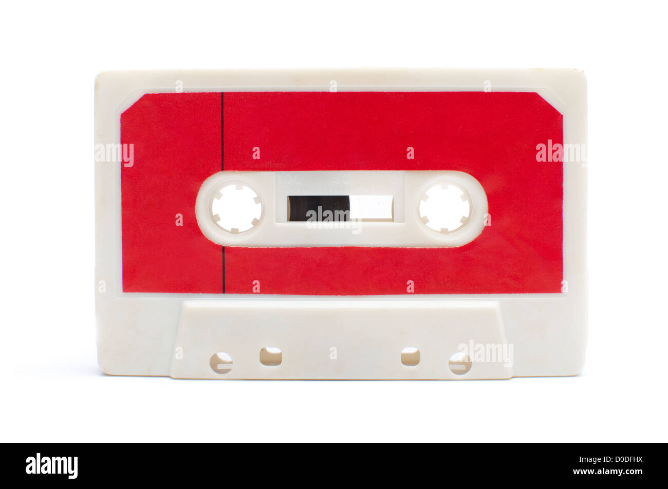 cassette tape isolated on white background - Stock Image