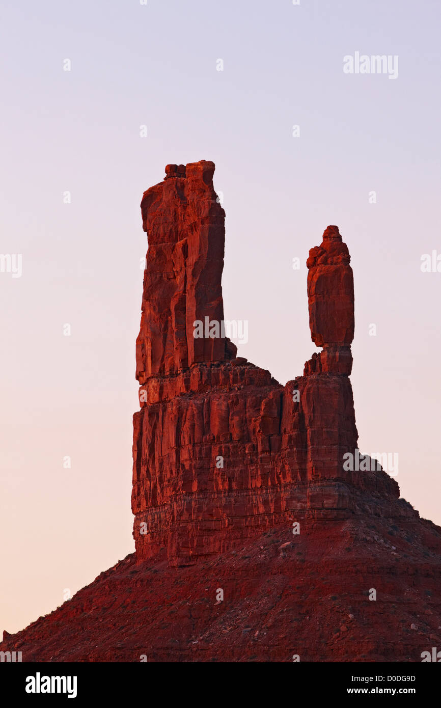 Rock Formation in the Valley of the Gods - Stock Image