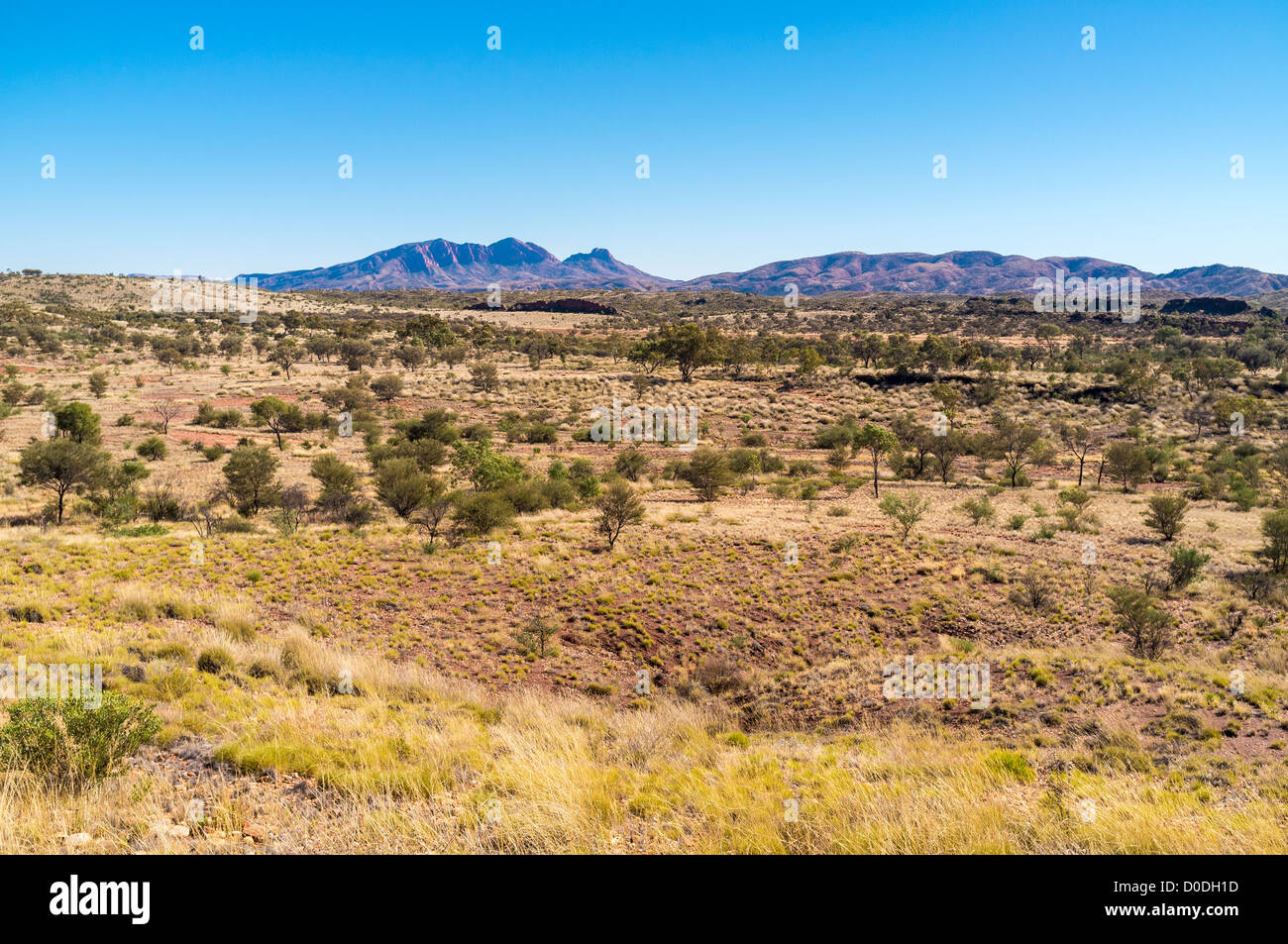 Dramatic Mount Sonder in the West MacDonnell Ranges near Alice Springs in the Red Centre of the Northern Territory - Stock Image