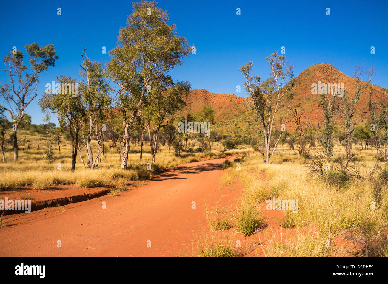 The road to Gosse Bluff, Tnorala (Gosse Bluff) Conservation Reserve, West MacDonnell Ranges, Alice Springs, Northern - Stock Image