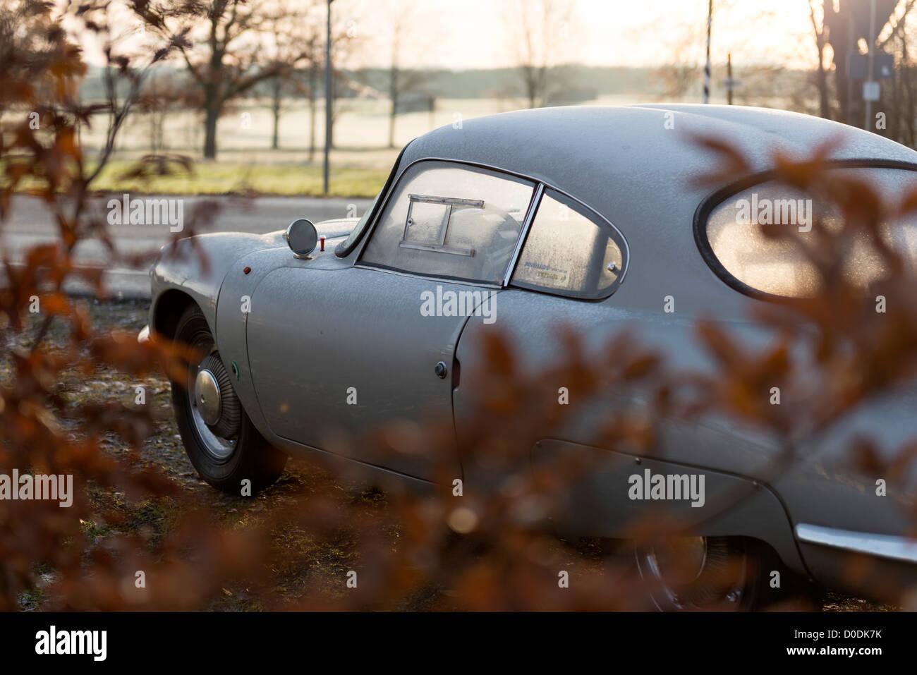Pnahard CD in automn parking  in Bavarian Landscape - Stock Image