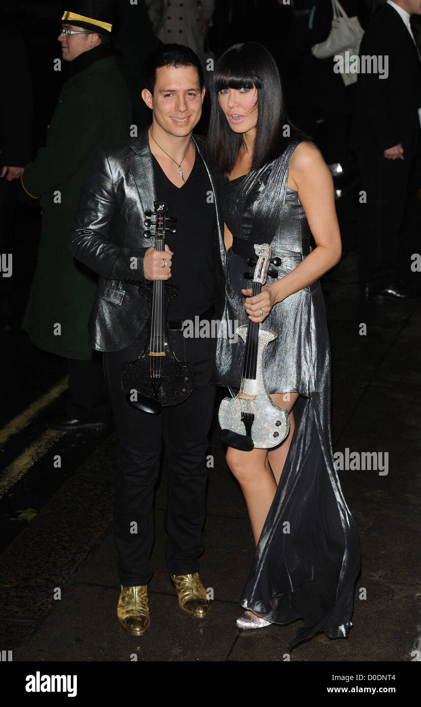 Linzi Stoppard and guest Fashion For The Brave held at The Dorchester - Arrivals. London, England - Stock Image