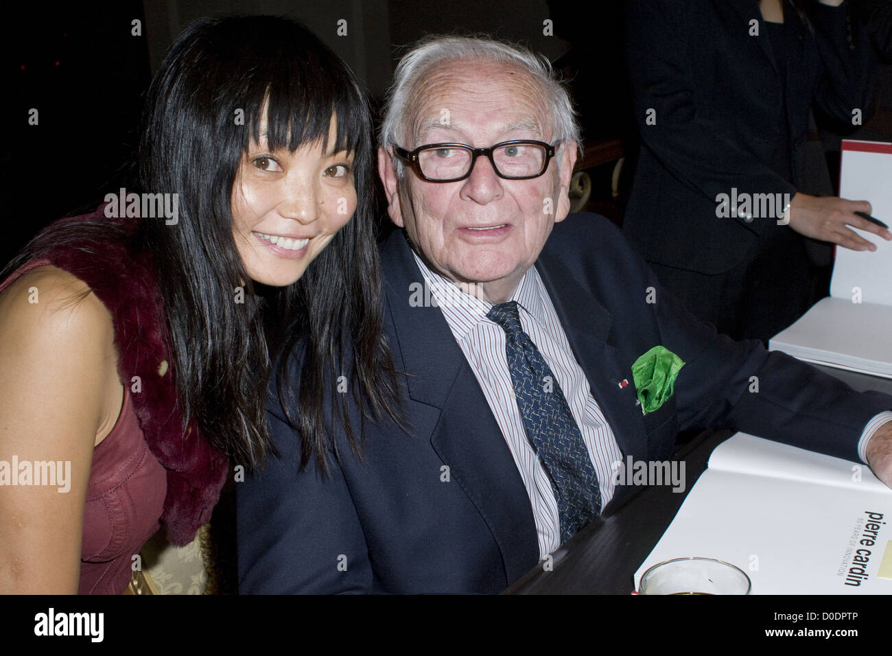 Pierre Cardin and Irina Pantaeva Prosper & Martine Assouline host the US Launch of 'Pierre Cardin:  Years - Stock Image