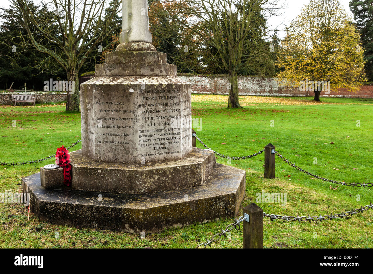 Village War Memorial - Stock Image