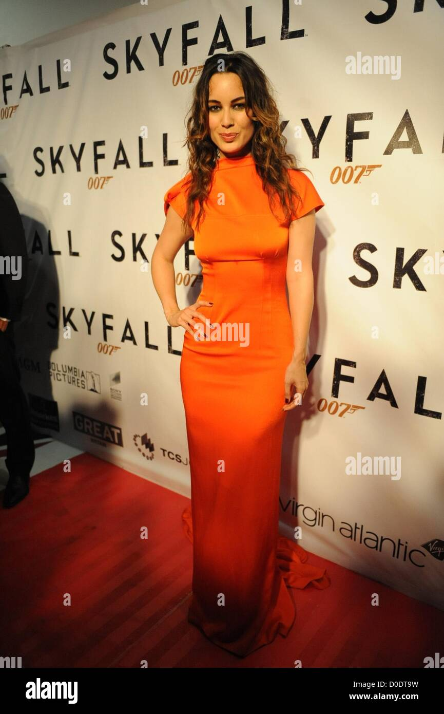 JOHANNESBURG, SOUTH AFRICA: French actress Berenice Marlohe at the South African premiere of Skyfall, the latest - Stock Image