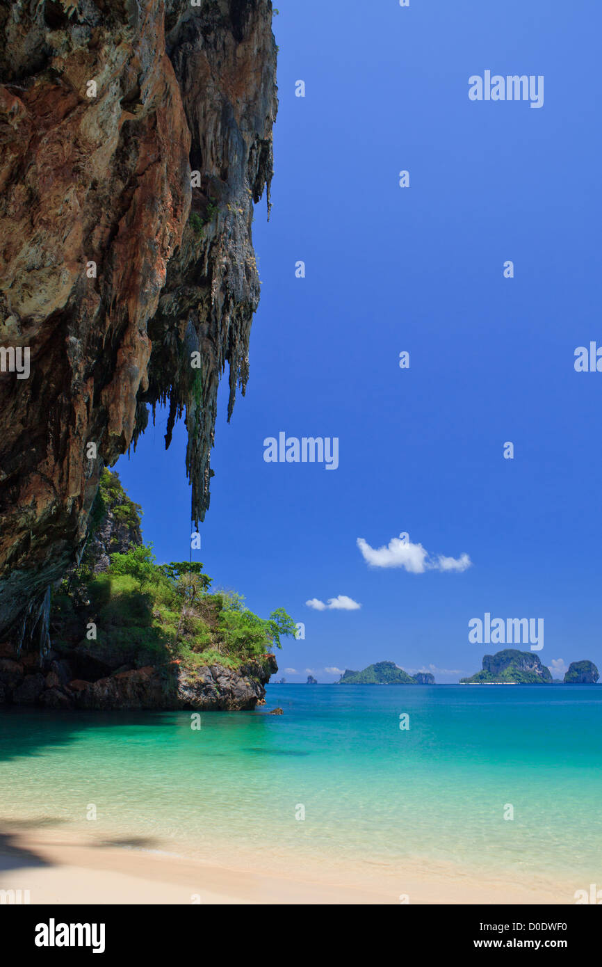 This image was taken at Phra Nang Cave, Krabi,Thailand. - Stock Image