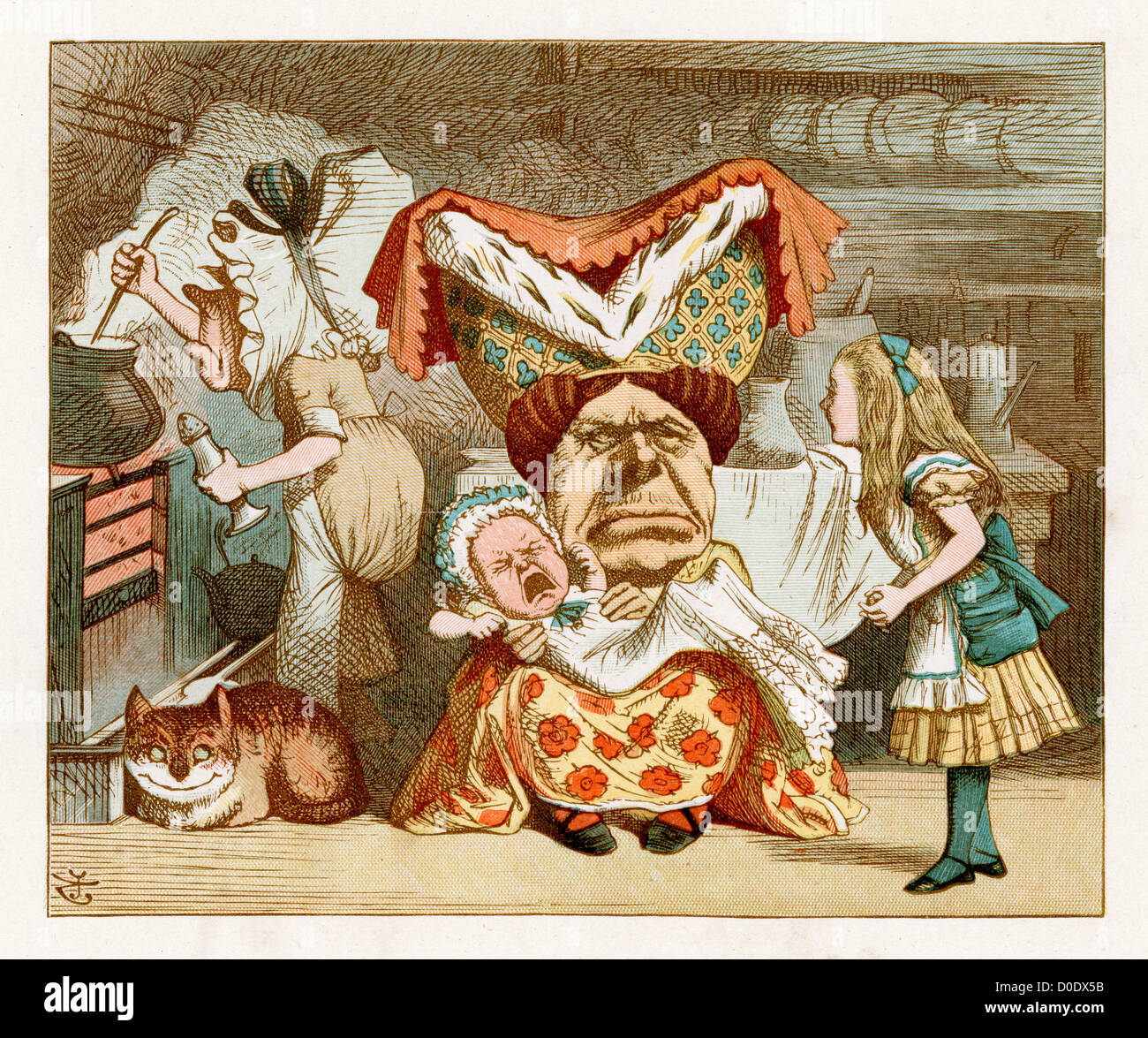 Alice In Wonderland Crying: The Pig Baby, From The Lewis Carroll Story Alice In