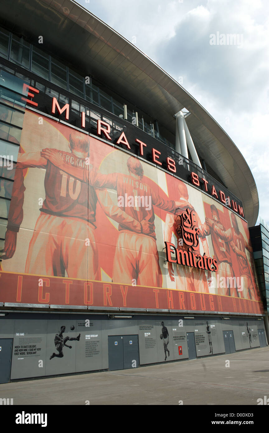 The Emirates Stadium, Islington, north London, England, UK. Also known as Ashburton Grove to Arsenal fans. - Stock Image