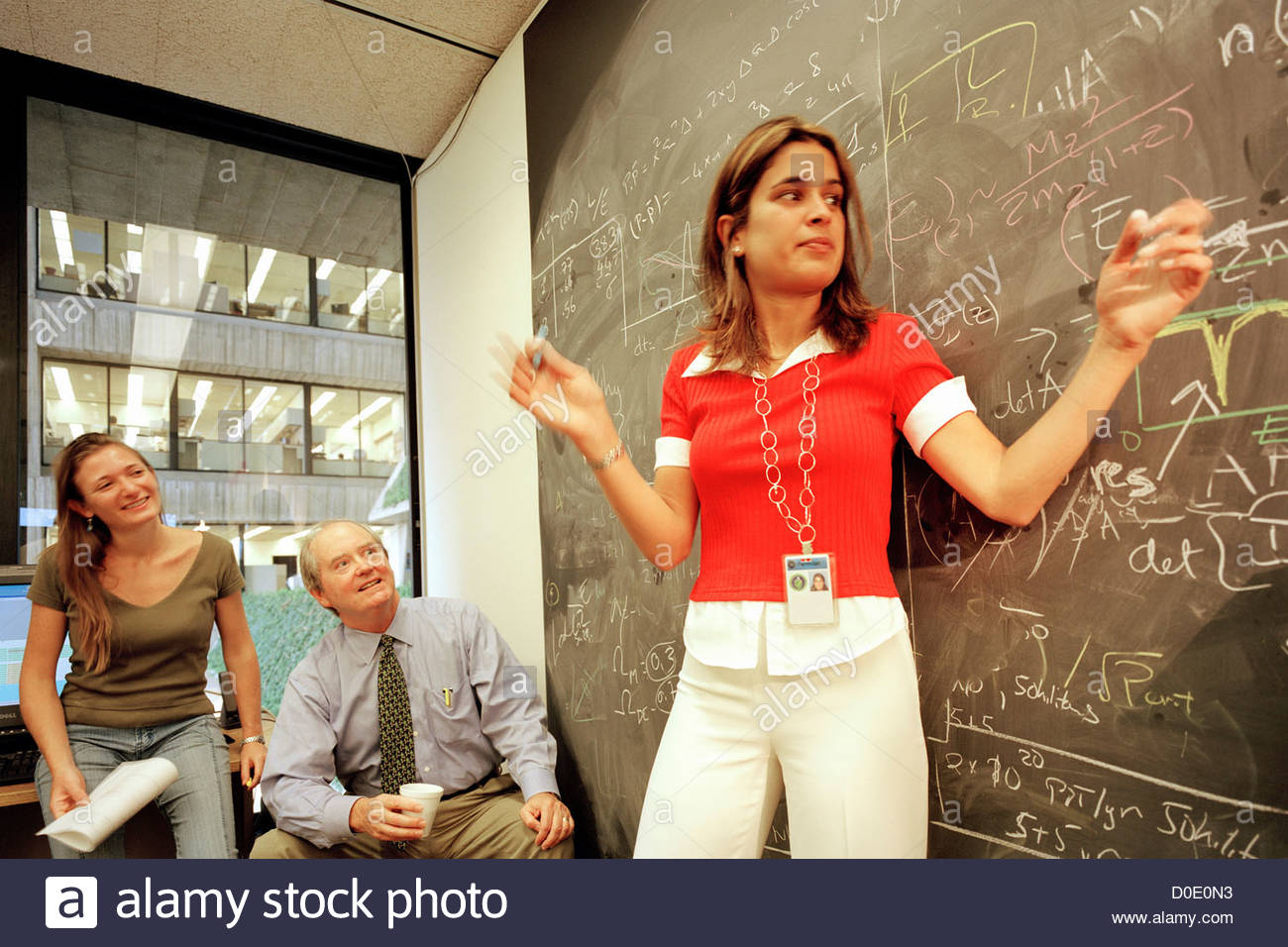 Chalkboard of the 21st Century - Stock Image
