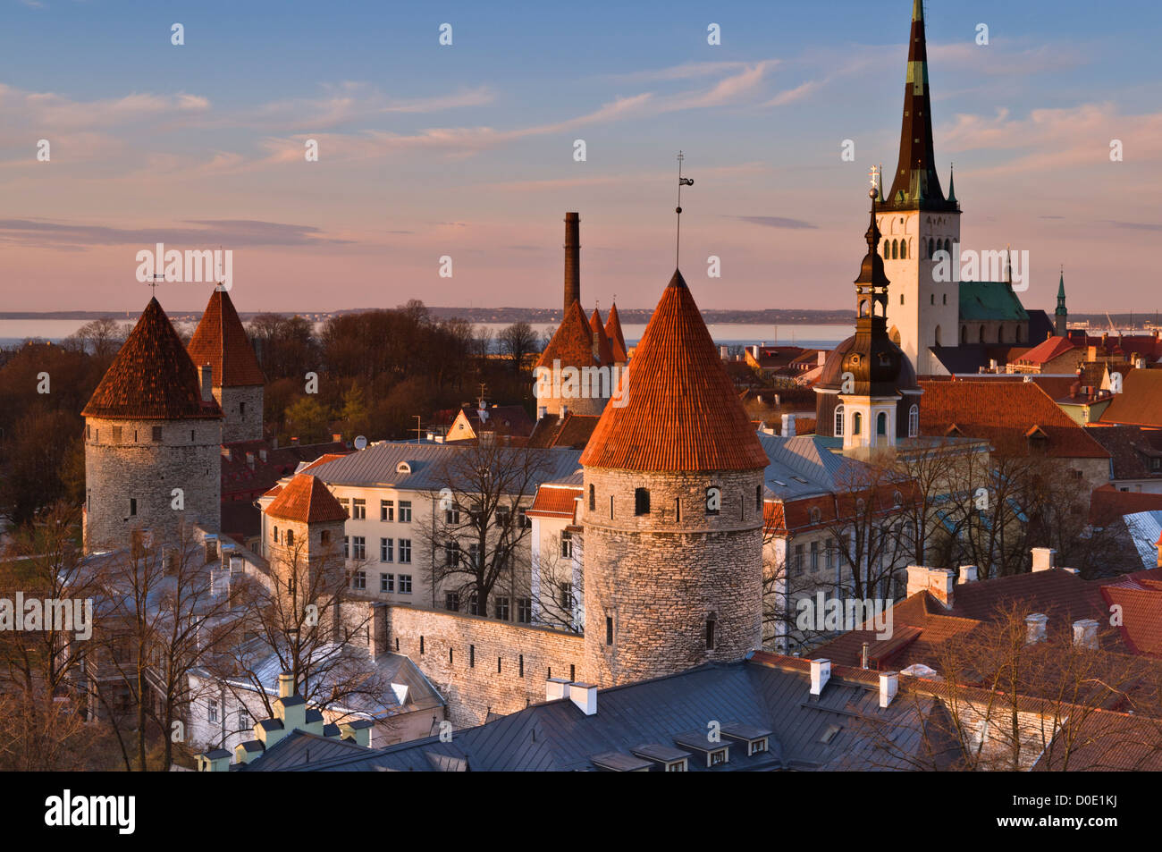 Old Town City View Tallinn Estonia - Stock Image