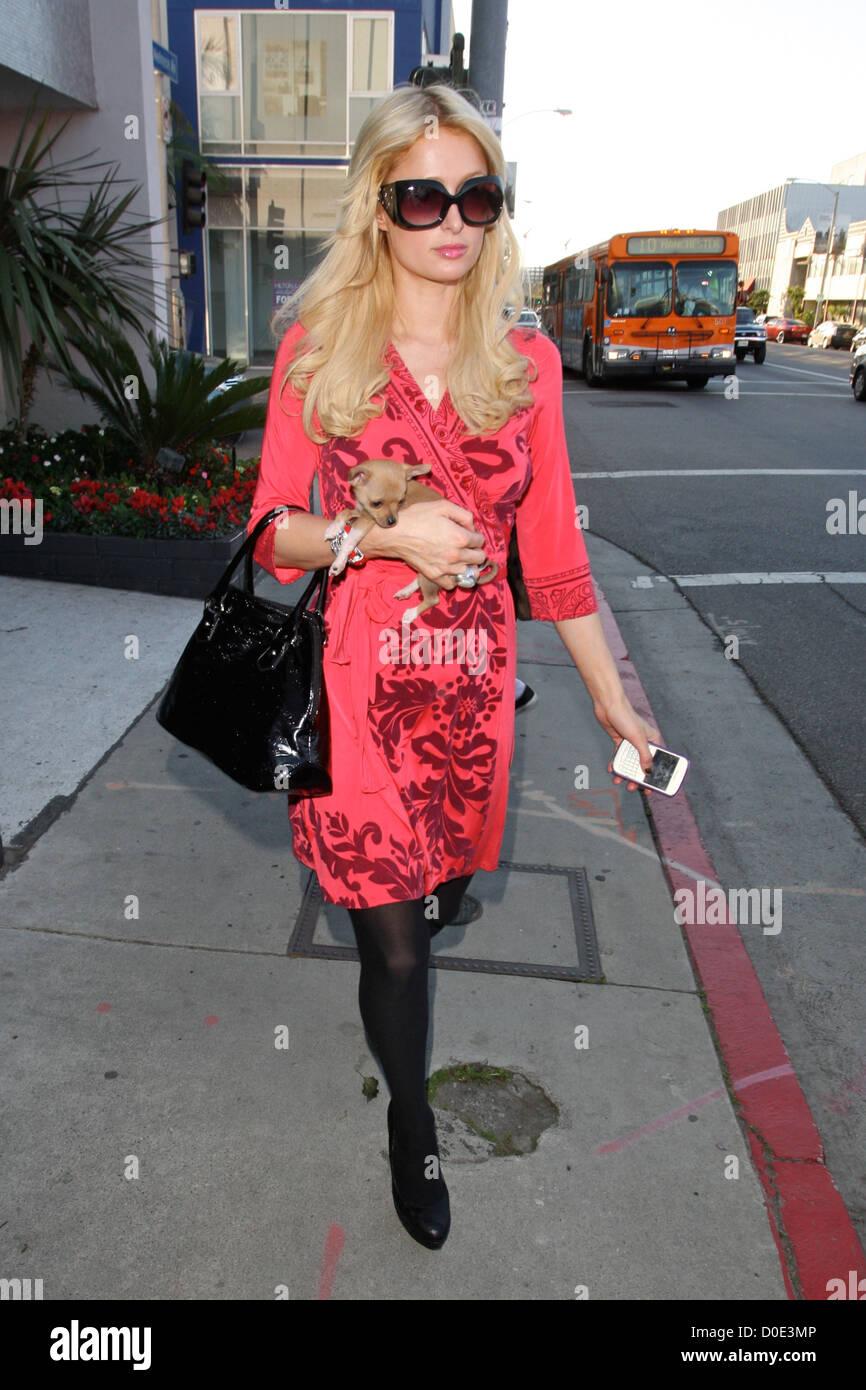 Paris Hilton leaving the Decades Two store Los Angeles, California - 04.11.10 - Stock Image