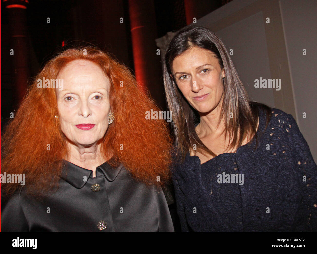 Grace Coddington and guest th Annual Night of Stars 'The Globalists' held at Cipriani  Wall Street New York - Stock Image