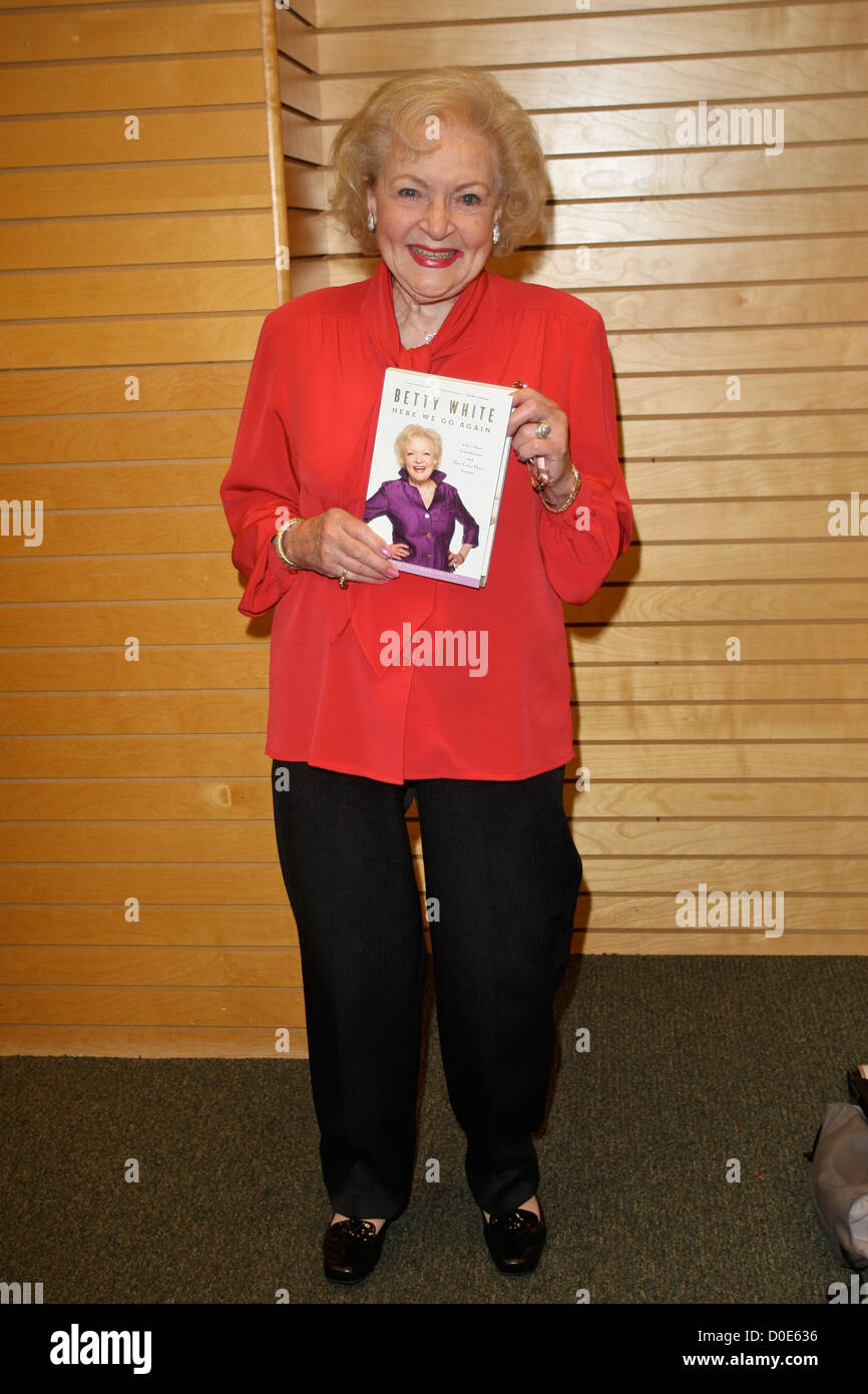Betty White Signs Copies Of Her New Book At Barnes Noble Book