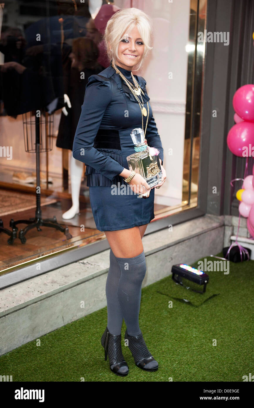 Pixie Lott at Juicy Couture in London's West End London, Engalnd - 08.09.10 - Stock Image