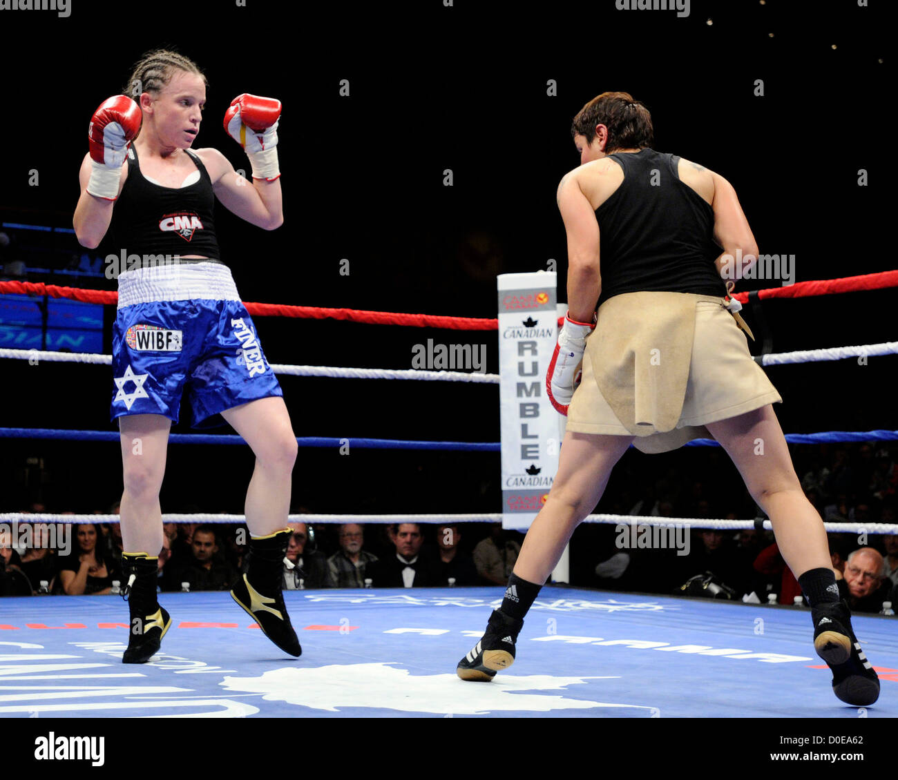 Watch Hagar Finer WIBF bantamweight boxing champion video