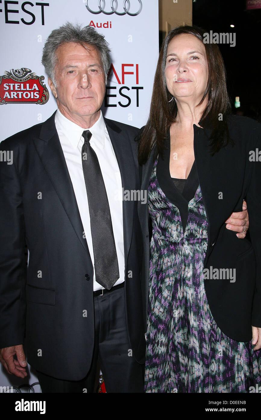 Dustin Hoffman and wife Lisa Hoffman AFI Fest  Centerpiece Gala Screening of 'Barney's Version' held - Stock Image
