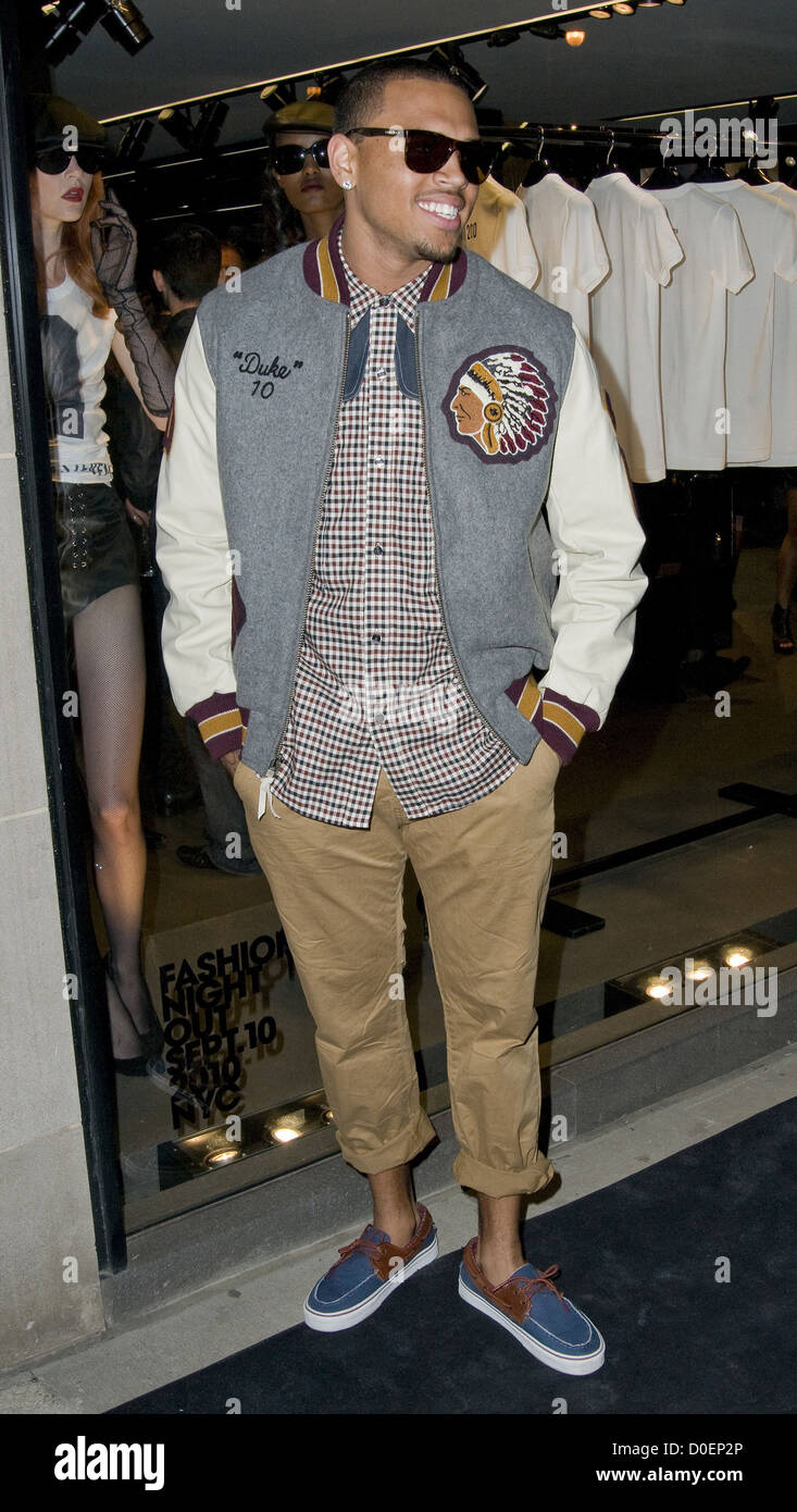 Chris Brown Fashion S Night Out At Dolce Gabbana S Madison Avenue Boutique New York City Usa 10 09 10 Stock Photo Alamy