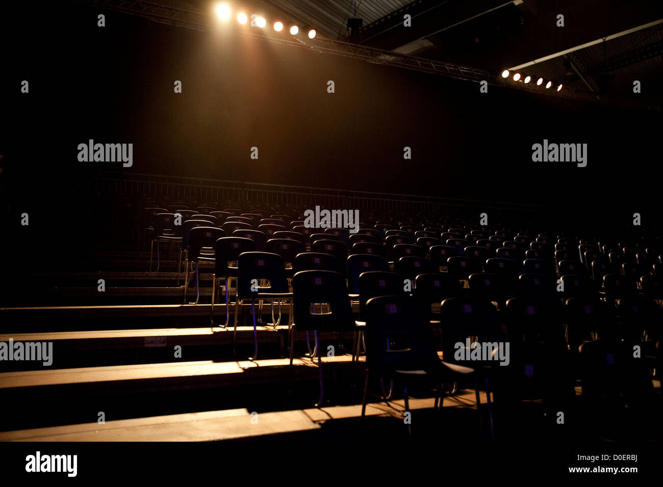 Empty seats in a theater - Stock Image