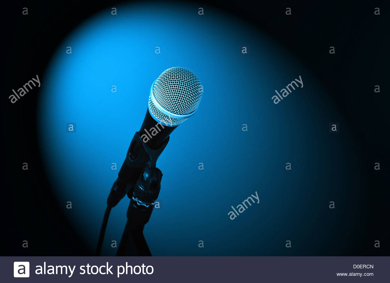 microphone close up - Stock Image