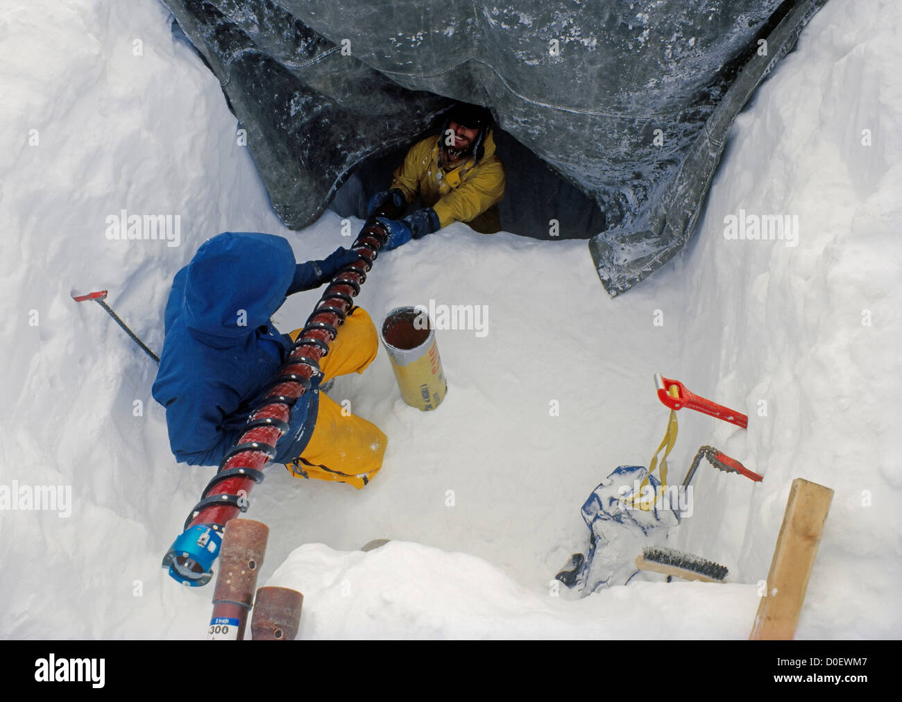 Taking Ice Cores - Stock Image