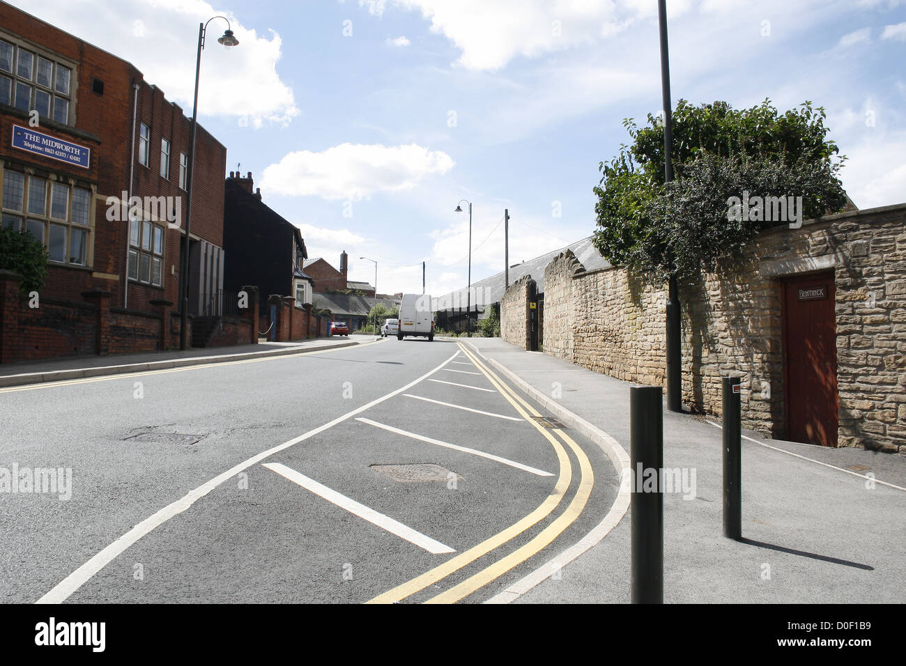 Church Lane, Mansfield, Nottinghamshire, England, UK - Stock Image