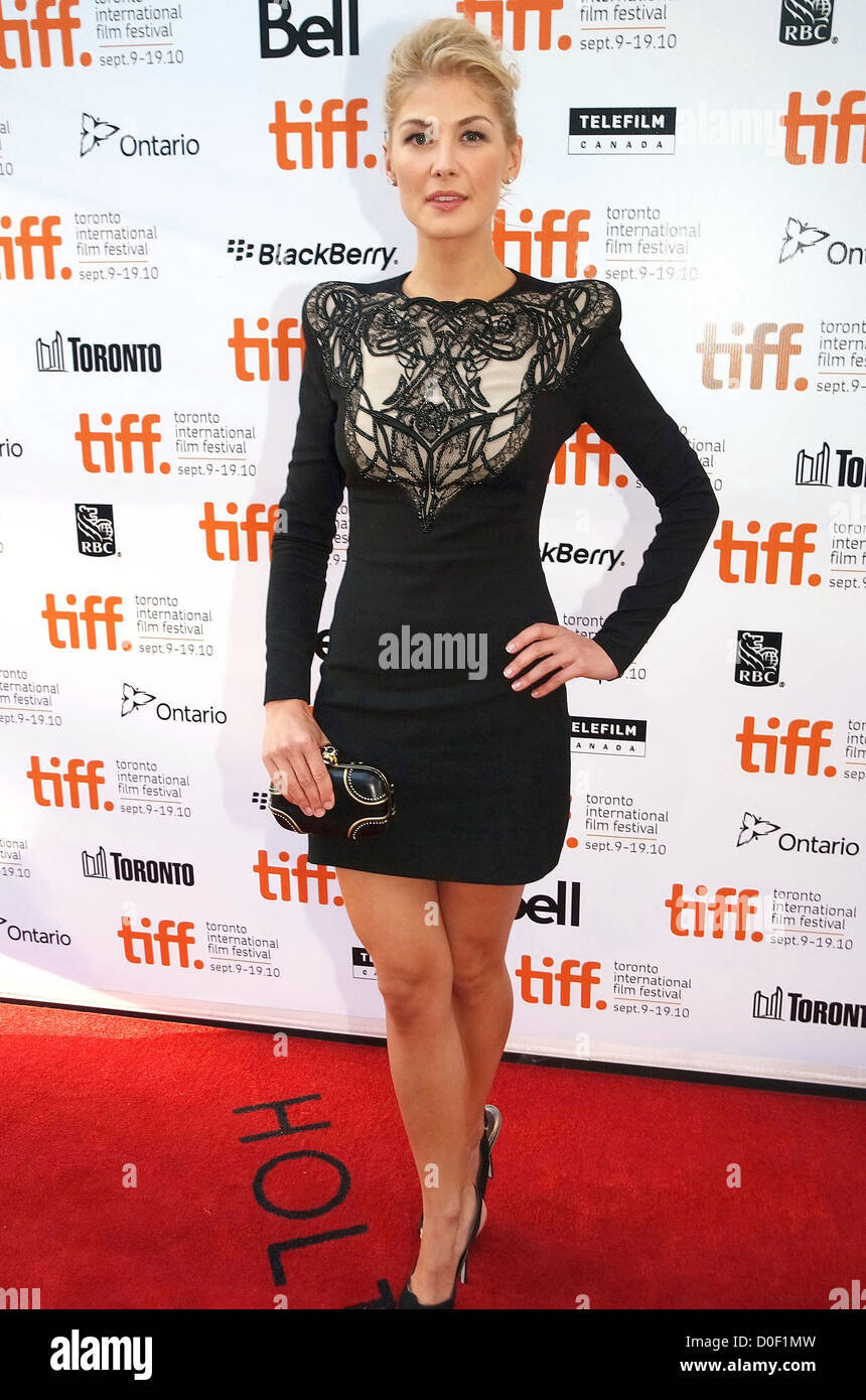 Rosamund Pike The 35th Toronto International Film Festival - 'Barney's Version' premiere arrival at the Roy Thomson Stock Photo