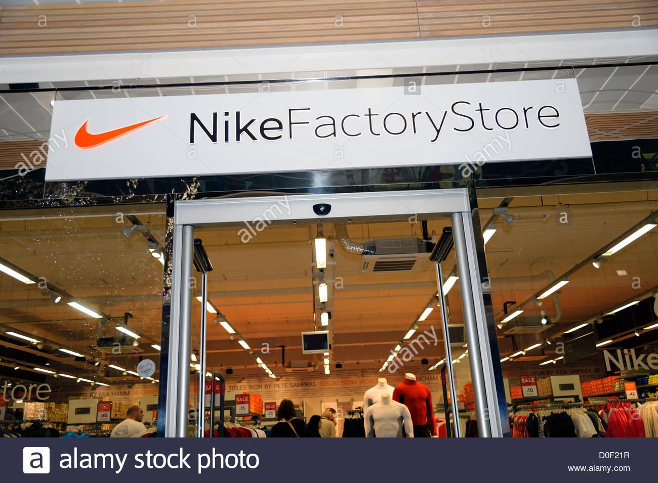 cheaper 69bc0 84ed6 Nike factory store, Gloucester Quays, UK. - Stock Image